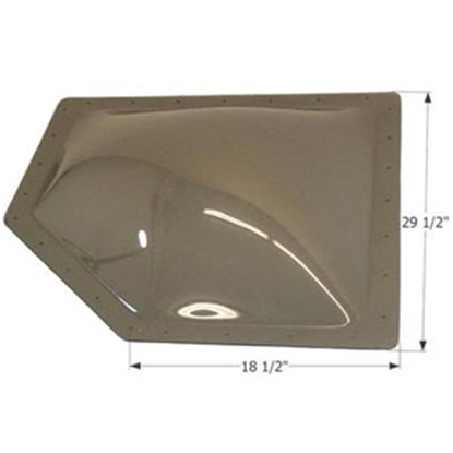"Picture of Icon  Smoke 25-1/2""x14-1/2"" RO 29-1/2""x18-1/2"" Flange Neo Angle Skylight 12207 22-6244"