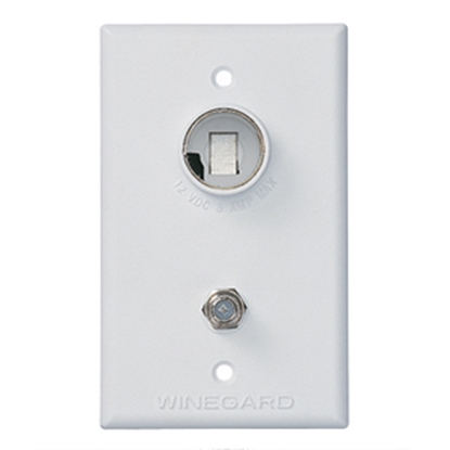 Picture of Winegard  White 12V Indoor Single Cable Receptacle TG-7341 24-0187