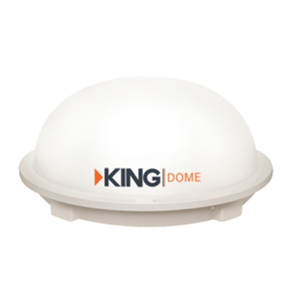 Picture of King  White Roof Mount In-Motion Satellite TV Antenna KD3000 24-0322