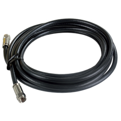 Picture of JR Products  Black 12' RG6 Coaxial Cable w/ Compression End 47965 24-0445