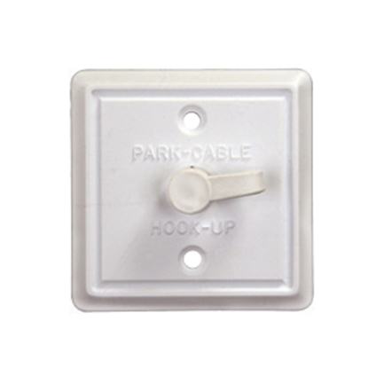 Picture of JR Products  Beige Weather Proof Roof Mount Single Cable TV Plate 47795 24-0599