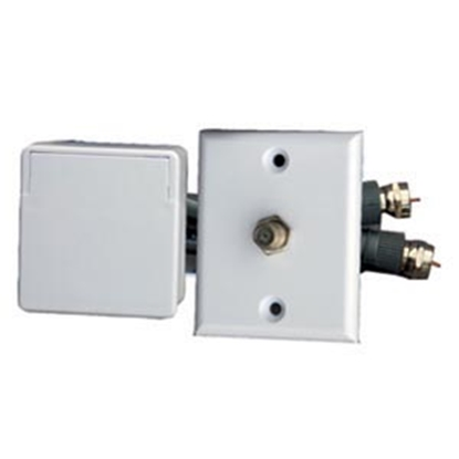 Picture of Prime Products  White Outdoor Single Phone Receptacle w/ Cover 08-6205 24-1058