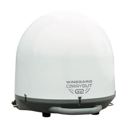 Picture of Winegard Carryout G2 White Portable Automatic Stationary Satellite TV Antenna GM-2000 24-2005