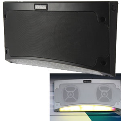 "Picture of King RV Media (TM) Black 13-1/2""Wx5-1/2""Hx2-1/4""D Waterproof Bluetooth Speaker RVM2001 24-4873"