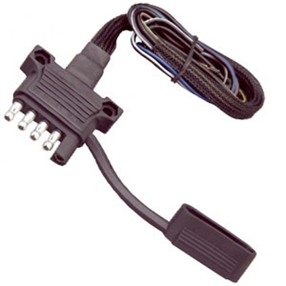 """Picture of Hopkins Endurance (TM) 5-Way Flat Trailer End Trailer Connector w/18"""" Wire 47910 55-0163"""
