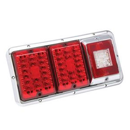 Picture of Bargman 85 Series Red/Chrome Recessed Clearance/ Side Marker Light 47-85-002 55-5540
