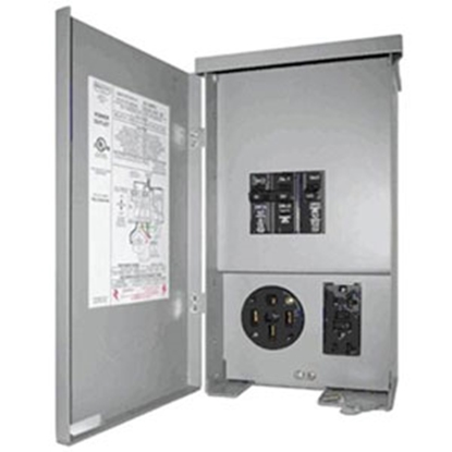 Picture of Parallax  120/240V Outdoor/ Indoor Single GFI Receptacle CESMPSC55GRHR 55-7986