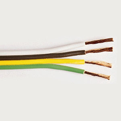 Picture of East Penn  Green Yellow Brown White 16/4 1000' Bonded Parallel Wire 02917 55-9711