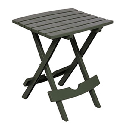 "Picture of Adam's Quik-Fold (R) 17-1/2""L x 15-1/4""W x 20""H Sage Polypropylene Folding Table 8500-01-3731 69-0237"
