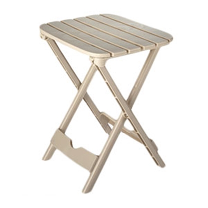 "Picture of Adam's Quik-Fold (R) 12""L x 14""W x 18-1/2""H Desert Clay Polypropylene Folding Table 8520-23-3731 69-0240"