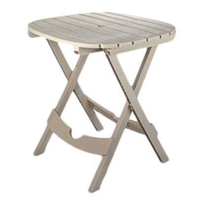 "Picture of Adam's Quik-Fold (R) 29""H x 29-3/4""W x 28""L Desert Clay Polypropylene Folding Table 8550-23-3731 69-0243"