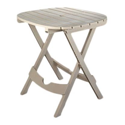 "Picture of Adam's Quik-Fold (R) 29""H x 29-3/4""W x 28""L Desert Clay Polypropylene Folding Table 8550-23-3731 69-0243"