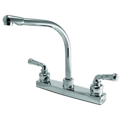 """Picture of Relaqua Relaqua (R) Chrome w/Teapot Handles 8"""" Kitchen Faucet w/Hi-Arc Spout AKL-8201SH-1C 69-0315"""