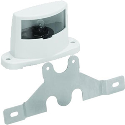 Picture of Bargman 62 Series White Housing License Plate Light w/Bracket 34-62-003 69-0338