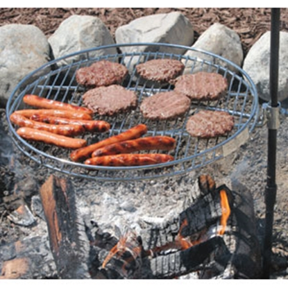 "Picture of Campfire Grill Pioneer 18"" Diam Extended Arm Style Campfire Grill 1030 69-0747"