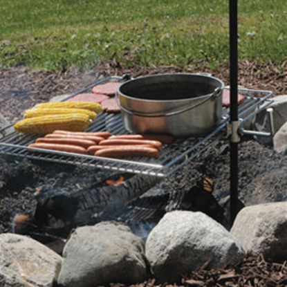 "Picture of Campfire Grill Original 20"" x 25"" Extended Arm Style Campfire Grill 1054 69-0748"