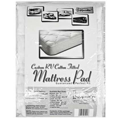 Picture of Custom Recreation  Padded Short Queen Mattress Pad RV60X75/100%MP 69-1164