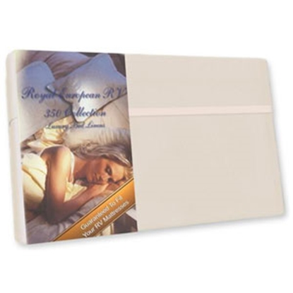 """Picture of Custom Recreation  Satin White 350 TC 34"""" x 75"""" Bunk Bed Sheet RV34X75/SW 69-1175"""