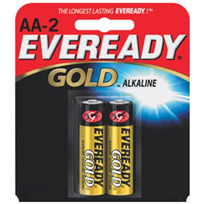 Picture of Eveready Gold (TM) 2-Pack AA Gold Alkaline Battery A91-BP-2 69-5093