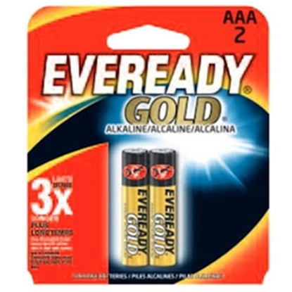 Picture of Eveready Gold (TM) 2-Pack AAA Gold Alkaline Battery A92-BP-2 69-5094