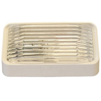 Picture of Gustafson  Clear w/Amber Lens Rectangular Porch Light w/o Switch AM4017 69-5182