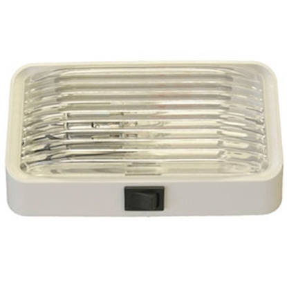 Picture of Gustafson  Clear w/Amber Lens Rectangular Porch Light w/Switch AM4018 69-5183