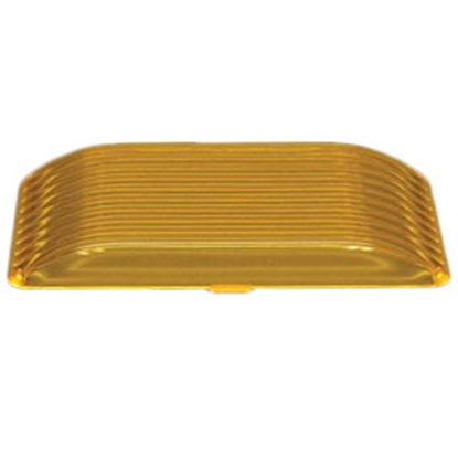 Picture of Gustafson  Amber Rectangular Porch Light Lens for Gustafson AM4017/AM4018 AM4028 69-5186