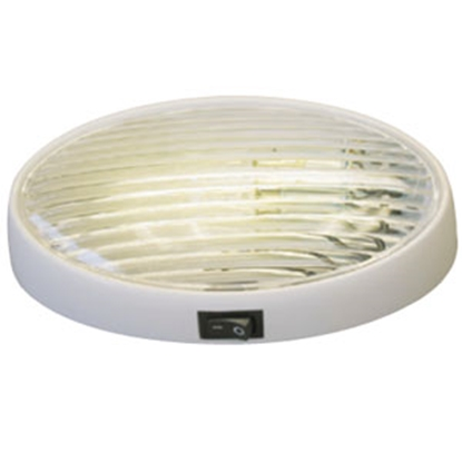 Picture of Gustafson  Clear w/Amber Lens Oval Porch Light w/Switch AM4032 69-5187