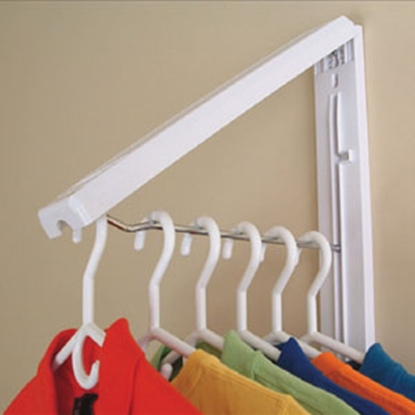 Picture of Instahanger  White Plastic Foldaway Clothes Hanging System AH12/M 69-5329