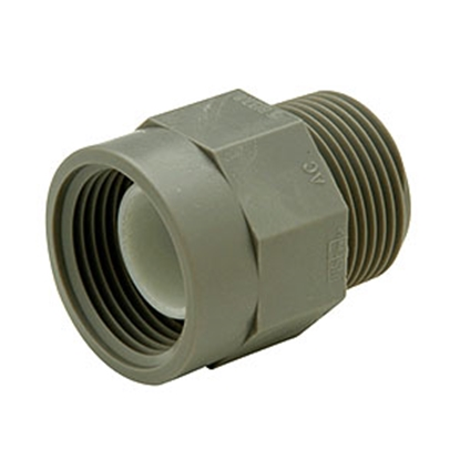 "Picture of Lasalle Bristol QEST 3/4"" Male Thread x 1/2"" Female Thread Gray Fresh Water Adapter Fitting 64QC43TF 69-6026"