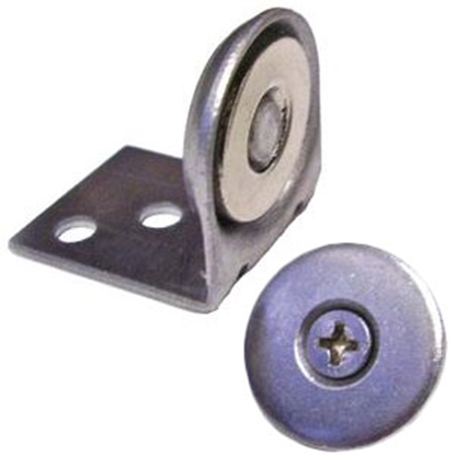 """Picture of Leisure Products Canada  20 lb Pull 90 Deg Mount 3/4"""" Magnetic Cabinet Latch PM2001M 69-6050"""