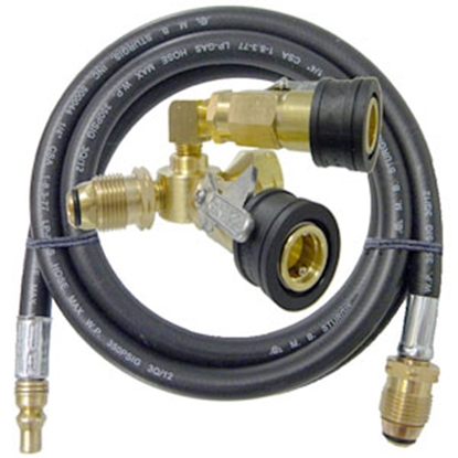 Picture of MB Sturgis  POL Tank Connector x Two QD x FPOL Outlet Brass LP Adapter Fitting 103538PKG 69-6642