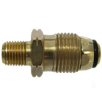 "Picture of MB Sturgis  POL x 1/4"" MNPT Brass LP Adapter Fitting 204037PKG 69-6652"