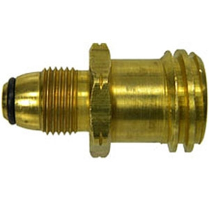 Picture of MB Sturgis  POL w/ O-Ring Type 1 Retro Q Adapter Brass LP Adapter Fitting 402152PKG 69-6657