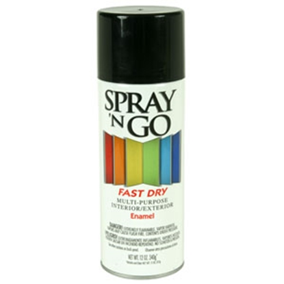 Picture of Rust-Oleum Spray N Go 12 Oz Spray Can Black Paint 51104830 69-7126