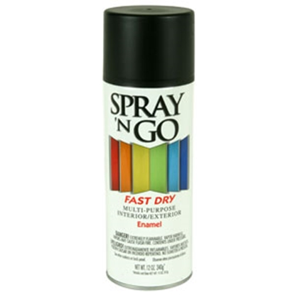 Picture of Rust-Oleum Spray N Go 12 Oz Spray Can Black Paint 51110830 69-7127