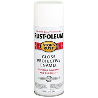 Picture of Rust-Oleum Stops Rust (R) 12 Oz Spray Can Black Gloss Paint 7792830 69-7129