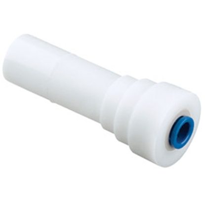 """Picture of Sea Tech 24 Series 1/2"""" Male CTS x 1/4"""" Female QC OD Tube White Plastic Fresh Water Straight Reducing Stem 012414-1004 69-714"""