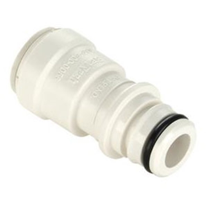 "Picture of Sea Tech 35 Series 1/2"" Female QC Copper Tube Off-White Polysulfone Fresh Water Straight Fitting 3575-10 69-7174"