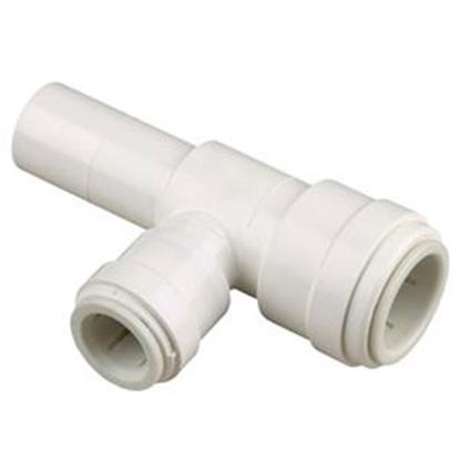 "Picture of Sea Tech 35 Series 1/2"" Female QC Copper Tube Off-White Polysulfone Fresh Water 90 Degree Elbow Pump Fitting 3576-10 69-7175"