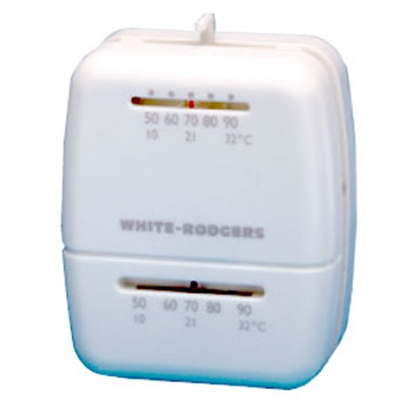 Picture of White-Rodgers  White Single Stage Heat Only Wall Thermostat 01C20 102S1 69-8025