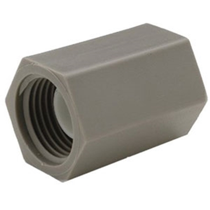 """Picture of QEST Qicktite (R) Assembled 1/2"""" FPT Gray Acetal Fresh Water Straight Fitting QBC33FN 69-8121"""