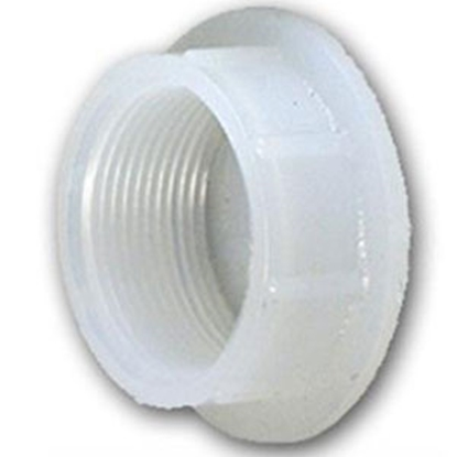 "Picture of Ameri-Kart  White Polyethylene 1-1/4"" Raised Slip Holding Tank Fitting 061 69-8376"