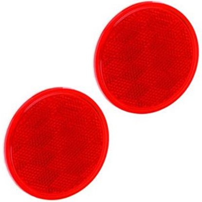 "Picture of Bargman  3-3/16"" Round Red Stick-On Reflector 74-38-010 69-8422"