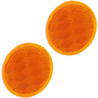 "Picture of Bargman  3-3/16"" Round Amber Stick-On Reflector 74-38-020 69-8423"