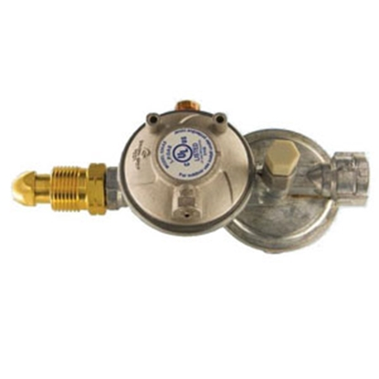 Picture of Cavagna  Two-Stage Horiz Vent 9:00 Regulator w/ Excess Flow POL Inlet (Clam) 52-A-490-0003C 69-8629