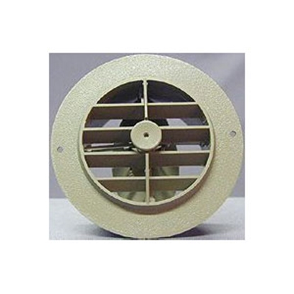 "Picture of D&W INC.  Beige 4""  Round Dampered Rotating Plastic Register 3840RDB 69-8746"