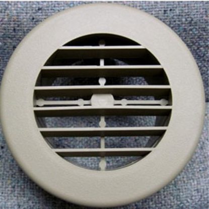 "Picture of D&W INC.  Beige 4"" Round Non-Dampered Rotating Plastic Register 3940DB 69-8748"