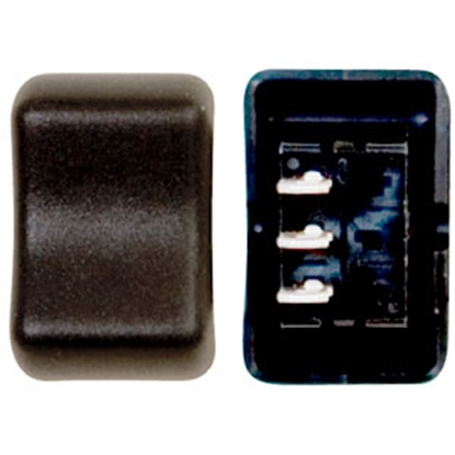 Picture of Diamond Group  Black 125V/ 16A SPDT Rocker Switch For Water Heaters 2F-12 69-8786