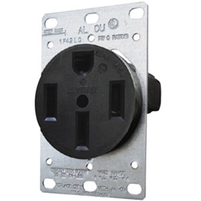 Picture of Diamond Group  Black 125V/ 50A Indoor/ Outdoor Single Receptacle 5850 69-8802